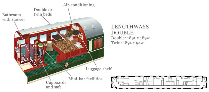 Rovos Rail Deluxe Suite Layout